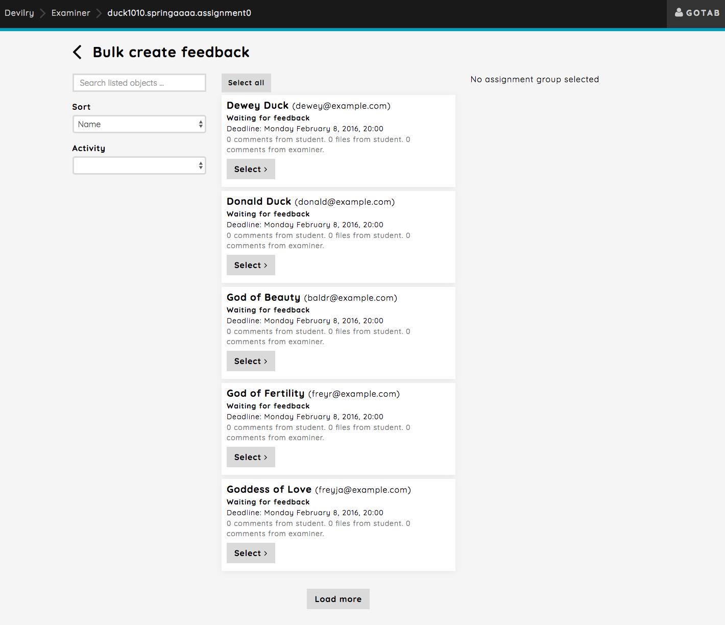 Bulk operations: Feedback — Devilry 4 0 2- documentation